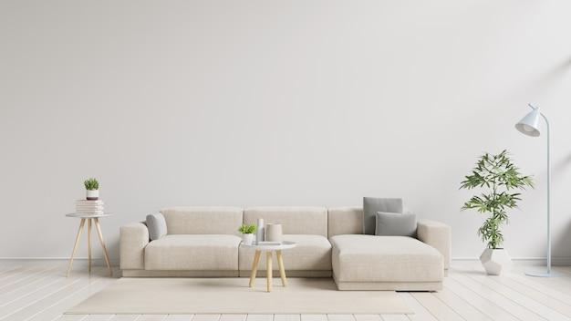 Intérieur De Salon Moderne Avec Canapé. Photo Premium