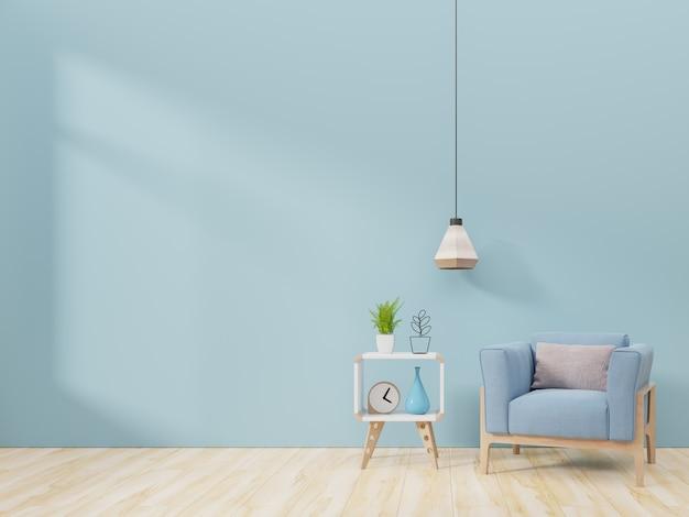 Intérieur de salon moderne avec fauteuil et plantes vertes Photo Premium