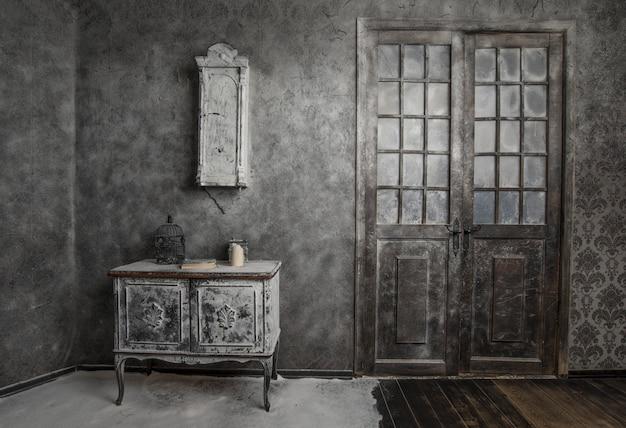 Intérieur vintage abandonné Photo Premium