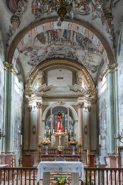 Intérieurs De L'église, Sanctuaire D'atotonilco, San Miguel De Allende, Guanajuato, Mexique Photo Premium