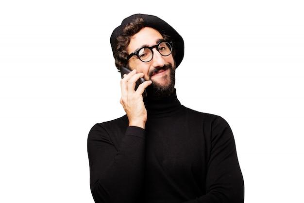 Internet cellulaire humain peintre mâle Photo gratuit
