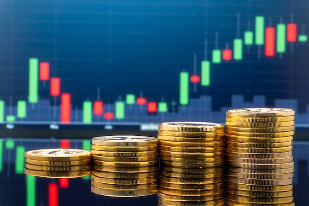 Investissement boursier et trading. Photo Premium