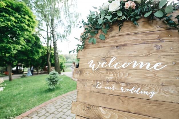 Invitation de mariage de décor Photo gratuit