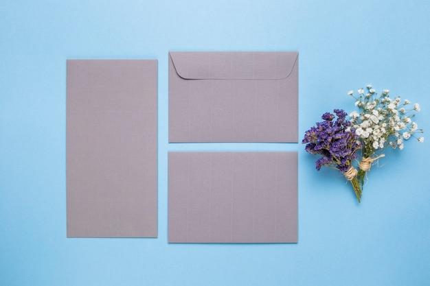 Invitation de mariage gris plat Photo gratuit