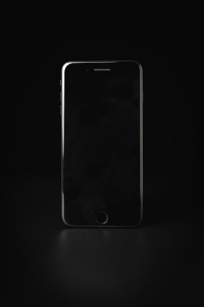 Iphone plus sur noir Photo Premium