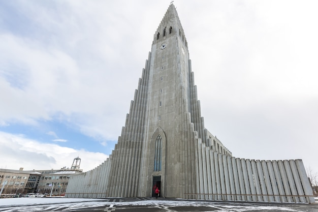 Islande hallgrimskirkja cathédrale Photo Premium