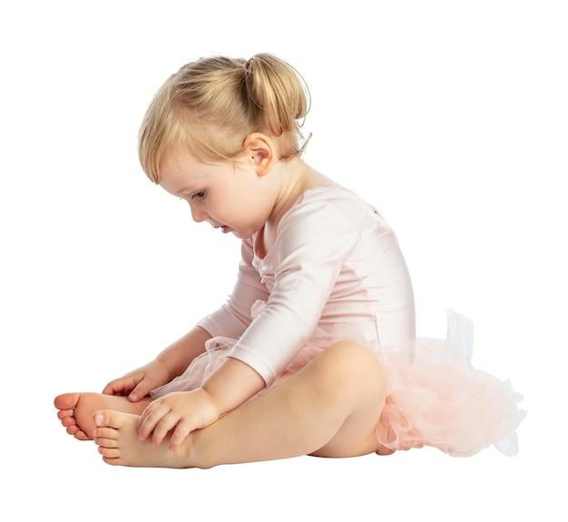 Isolé enfant avec tutu Photo Premium