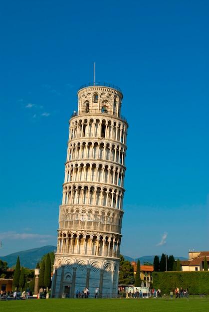 Italie, toscane, pise, tour penchée, de, pise Photo Premium