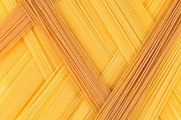 Italien Abstrait Spaghetti Long Vue De Dessus Abstrait De Couleurs Différentes Photo Premium