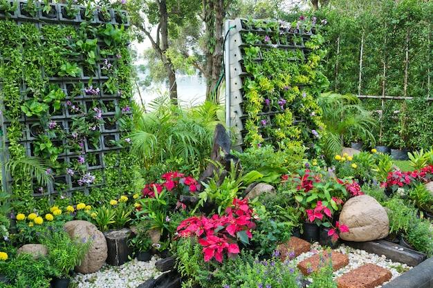 Jardinage vertical en harmonie avec la nature. Photo Premium