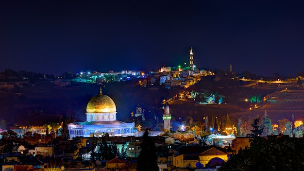 Jérusalem La Nuit Photo Premium