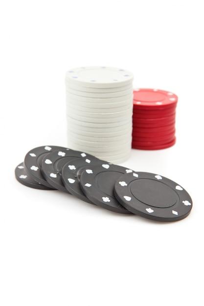 Jetons de poker empilés ensemble Photo Premium