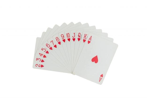 Jeu de cartes isolé Photo Premium