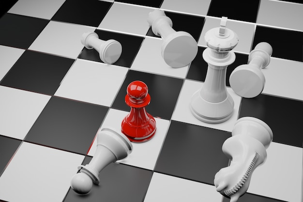 Jeu d'échecs, concept d'entreprise compétitif Photo Premium