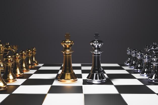 Jeu d'échecs pour idées, compétition et stratégie Photo Premium