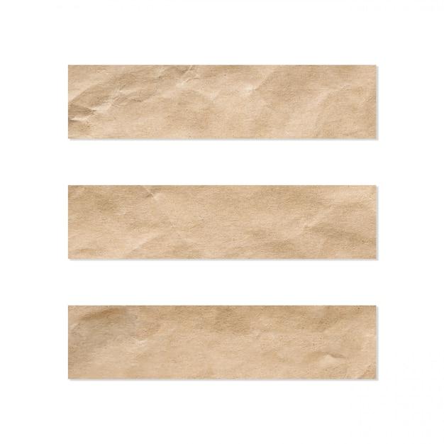 Jeu D'étiquettes En Papier. Gros Plan D'une Feuille De Papier Sur Un Fond Blanc. Photo Premium