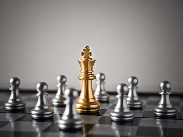 Le jeu final des affaires fait par les échecs Photo Premium