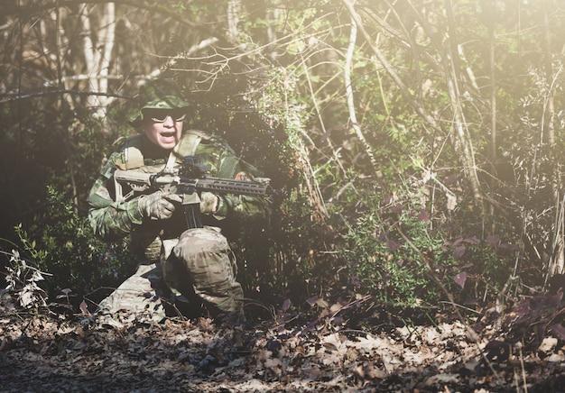 Jeu militaire airsoft Photo Premium