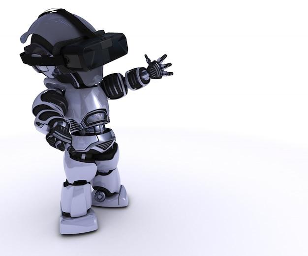 Jeu robot en réalité virtuelle Photo gratuit