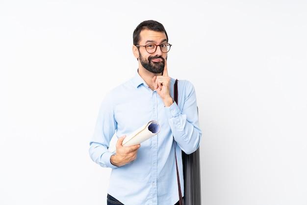 Jeune architecte homme à la barbe Photo Premium
