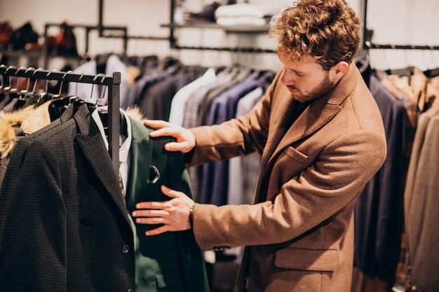 Jeune, Beau, Homme, Choisir, Vêtements, Magasin Photo gratuit