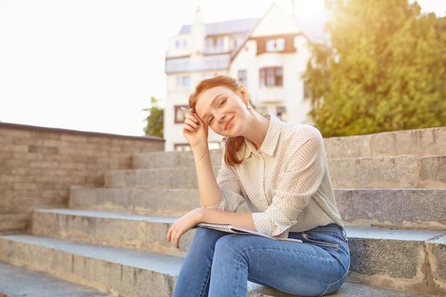 Jeune Belle étudiante Photo Premium