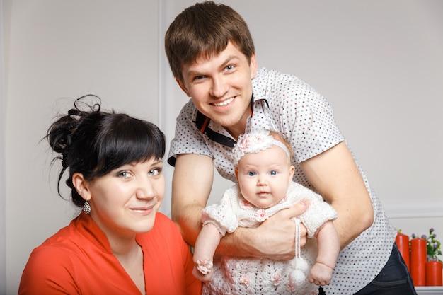 Jeune belle famille Photo Premium