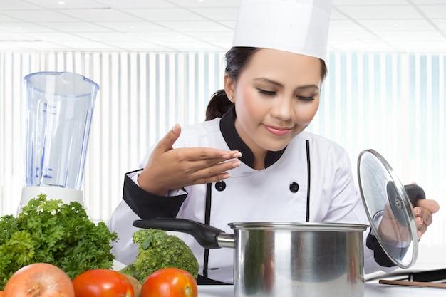 Jeune Chef Cuisinier Photo Premium