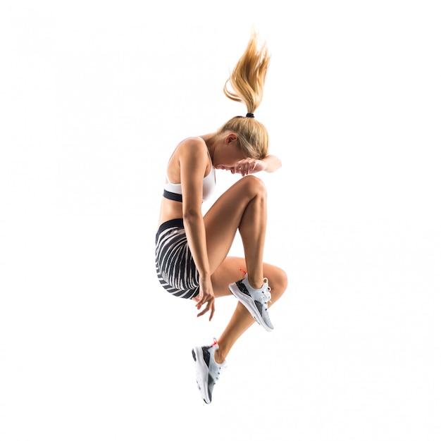 Jeune danseur sautant Photo Premium