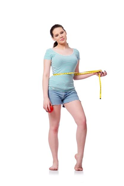 Jeune femme au concept sportif isolé Photo Premium