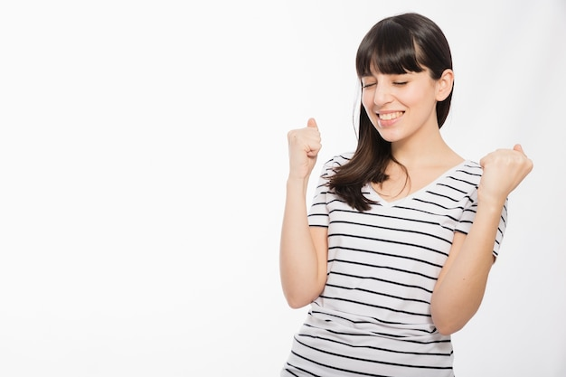 Jeune Femme, Faire, Souhait Photo gratuit