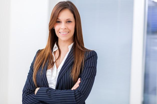 Jeune femme manager Photo Premium