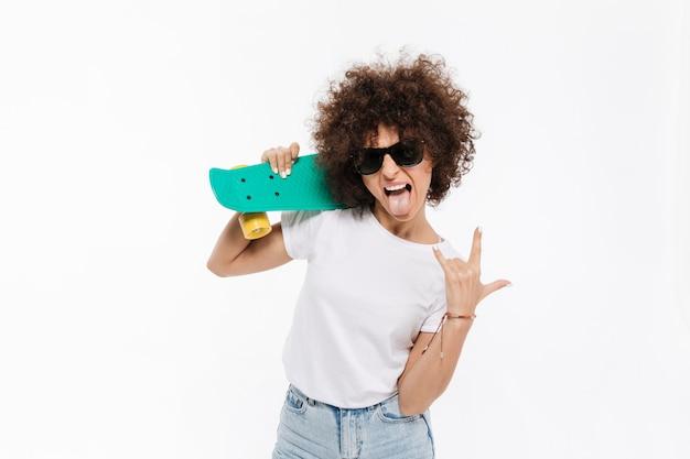 Jeune, Fou, Femme, Projection, Rocher, Geste, Quoique, Debout Photo gratuit