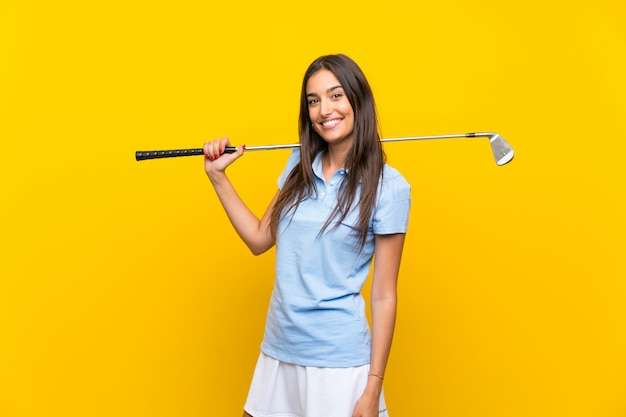 Jeune golfeuse Photo Premium