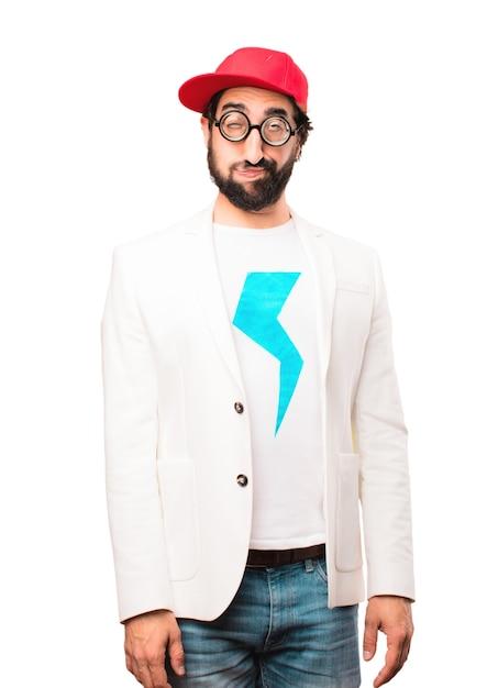 Jeune homme d'affaires ennuyant expression ennuyeuse Photo gratuit