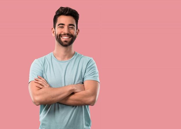 Jeune Homme, Croisement Bras Photo Premium