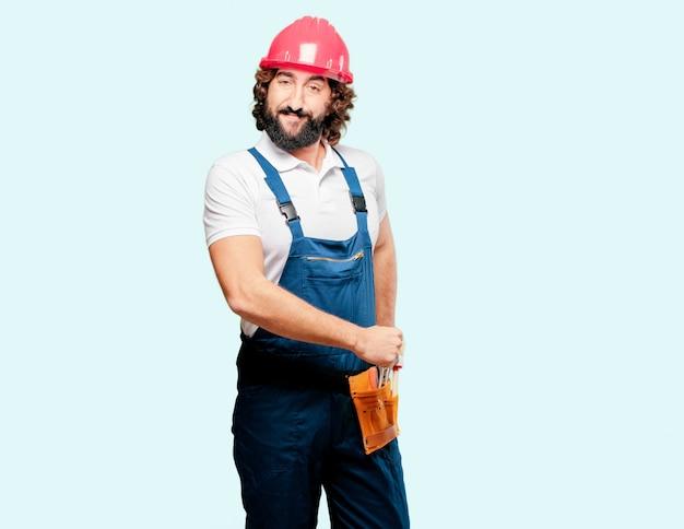 Jeune homme ouvrier Photo Premium