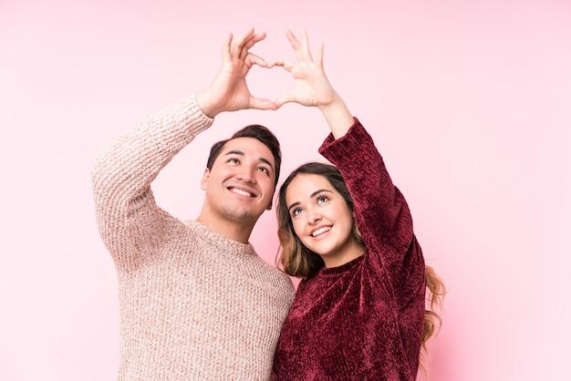 Jeune Latine En Couple Amoureux Photo Premium