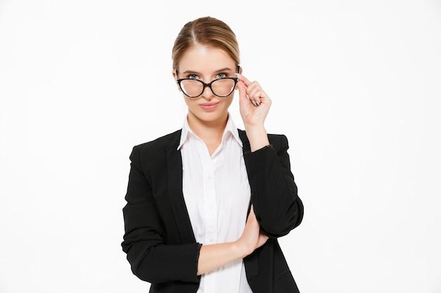 Jolie Blonde Femme D'affaires à Lunettes Photo gratuit