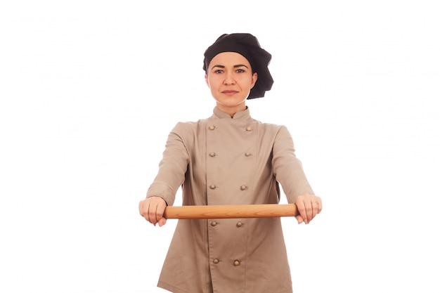 Jolie Femme Chef Photo Premium