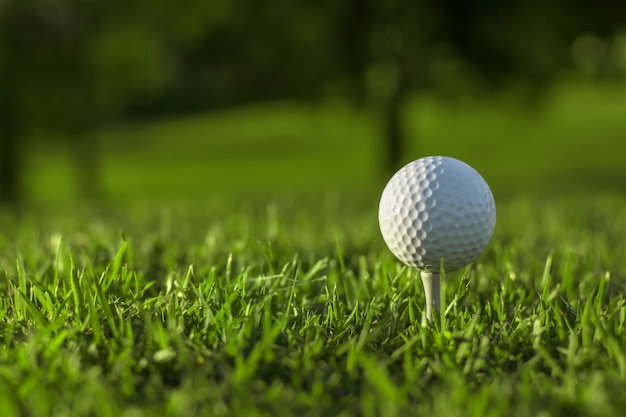 Jouer au golf pour la santé et la méditation, Photo Premium