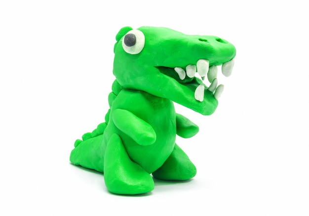Jouer doh tyrannosaurus sur fond blanc Photo Premium