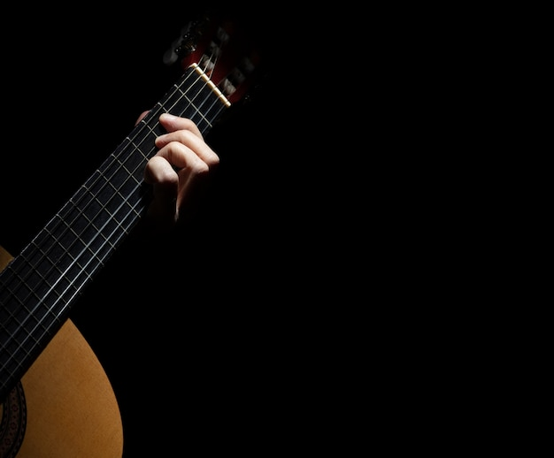 Jouer de la guitare espagnole Photo Premium
