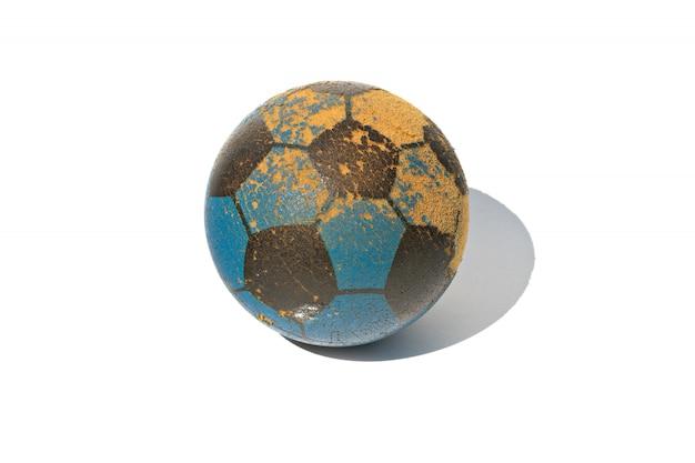 Jouet Ballon De Foot Isolé Sur Blanc Photo Premium