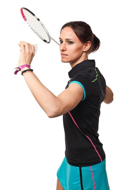 Joueur de badminton Photo Premium
