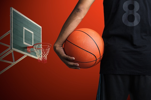 Joueur de basketball Photo Premium