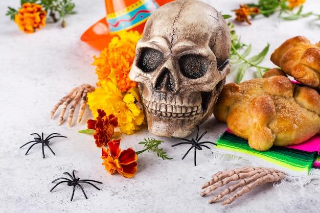 Jour Mexicain De La Décoration Morte Photo Premium