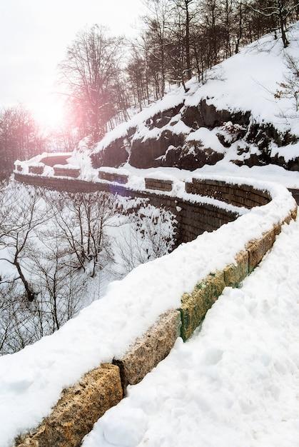 Journée froide dans les montagnes Photo Premium