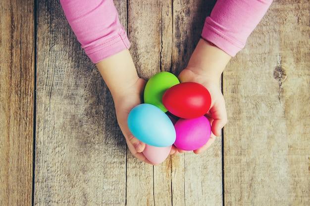Joyeuses pâques. mise au point sélective. vacances et événements. Photo Premium