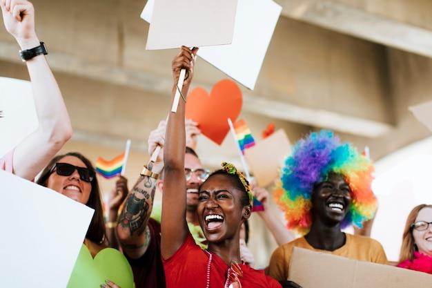 Joyeux gay pride et festival lgbt Photo Premium